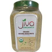 Jiva Organics 100% Pure Sesame Seeds White 1 Pound Jar