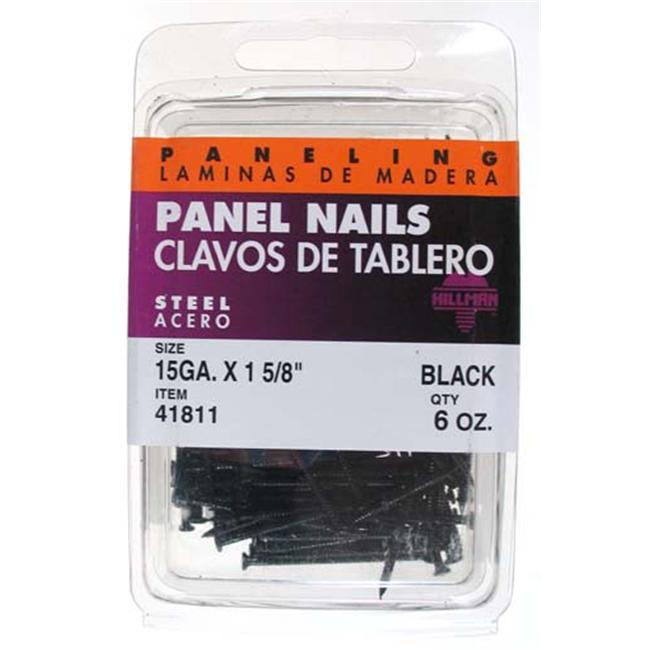 The Hillman Group 41811 Panel Nail 2 Packs of 6 13//8-Inch Black