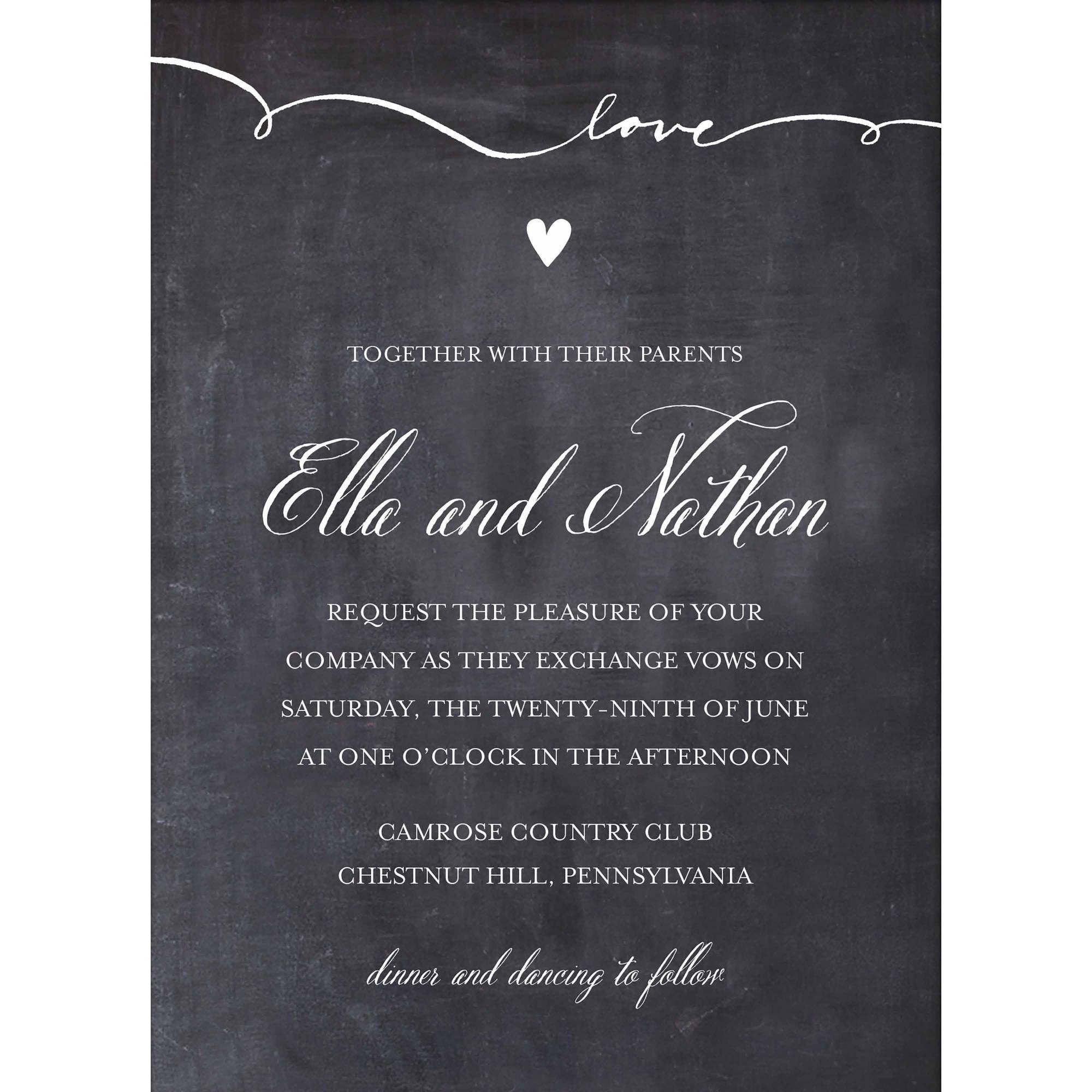 Script Love Standard Wedding Invitation Walmart Com