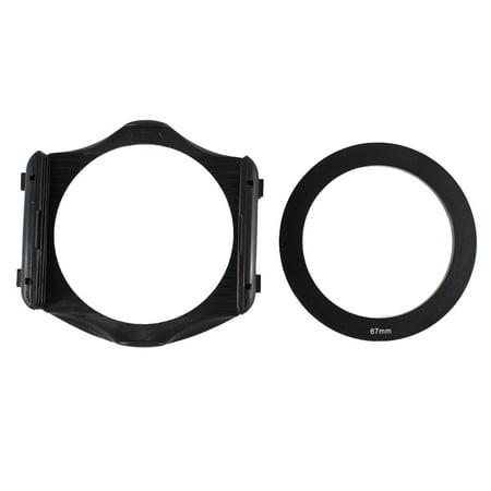 Unique Bargains 3-Slot Filter Holder + 67mm Aluminum Adapter Ring for Cokin P Series DSLR (Cokin Nd Filter P)