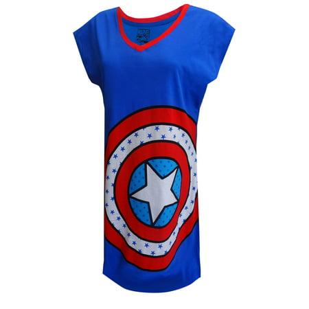 Marvel Comics Captain America Logo Nightshirt