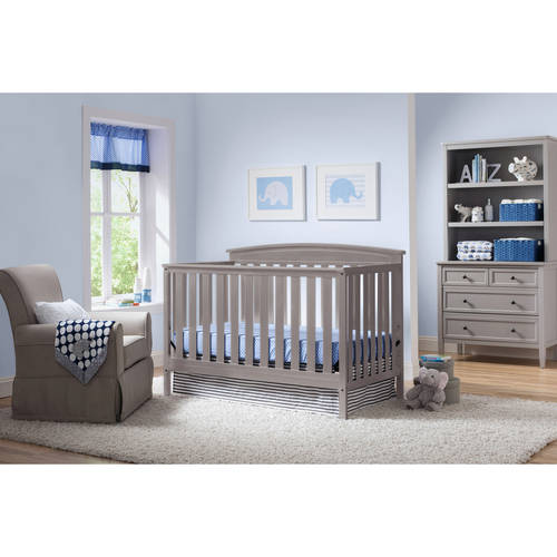 Delta Children's Products Gateway 4-in-1 Fixed-Side Crib, (Choose Your Finish)
