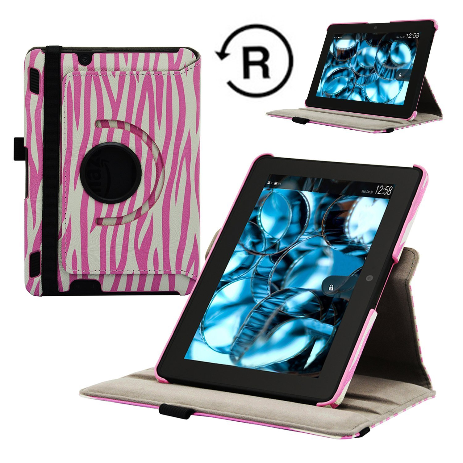 Fskying 360 Degree Rotating Leather Cover Case for Kindle...