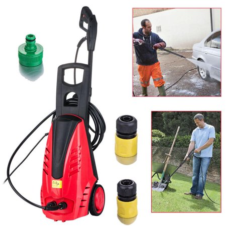Ktaxon 1850PSI Heavy Duty High Pressure Washer, 1.6GPM 1800W Electric Pump Water Cleaner Motor Jet Power Sprayer for Cleaning Garden, Patio, Cars, Boats, RVs, Driveways, Decks ()