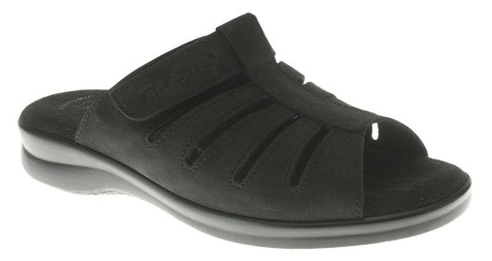 Flexus Women's VAMP Sandals BLACK 37 M EU 6.5-7 M