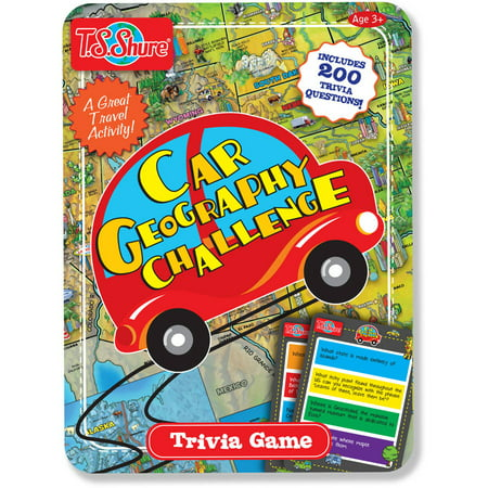 T.S. Shure Car Geography Challenge Game Tin (Games For The Car For Kids)