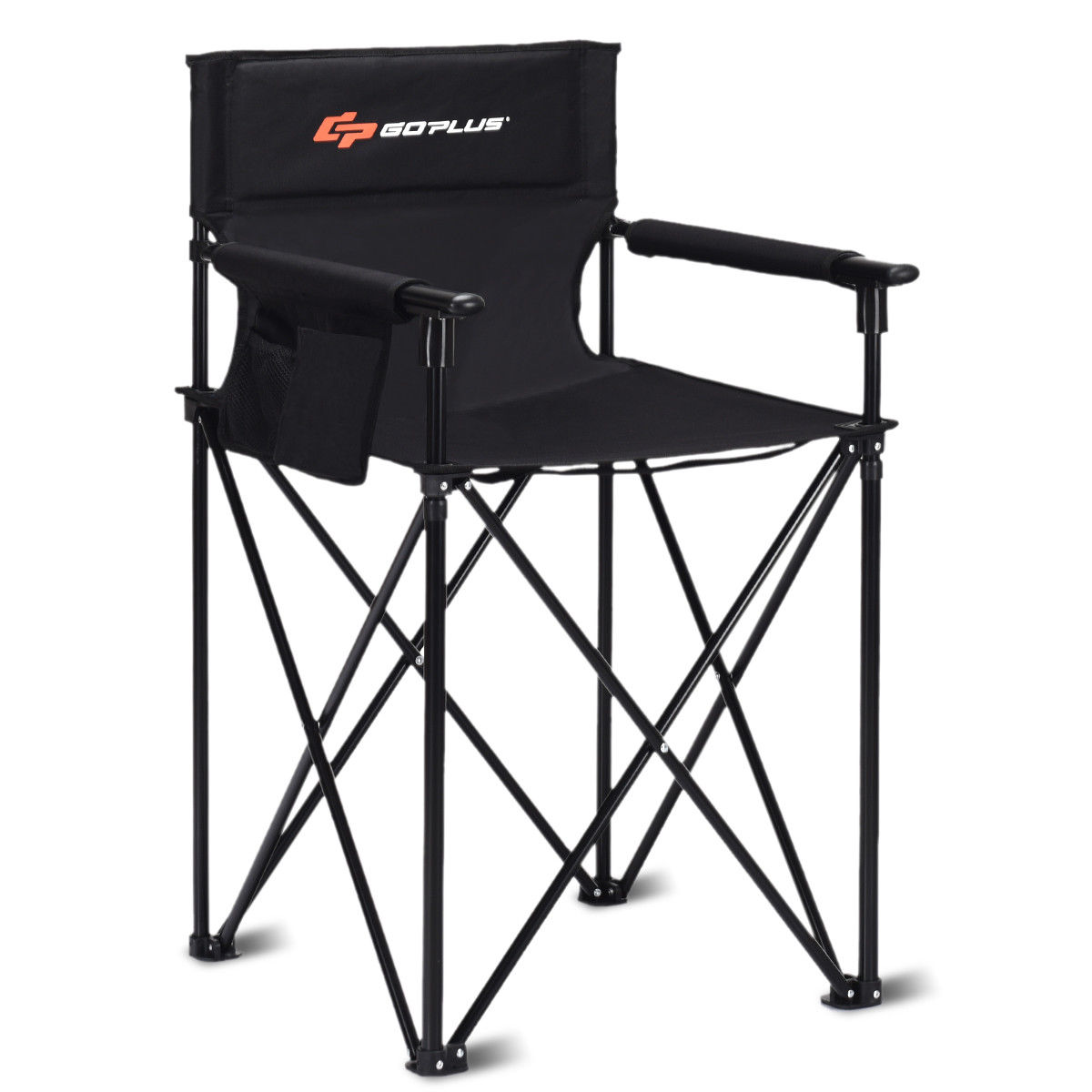 Goplus Portable 38'' Oversized High Outdoor Beach Chair Camping Fishing Folding Chair