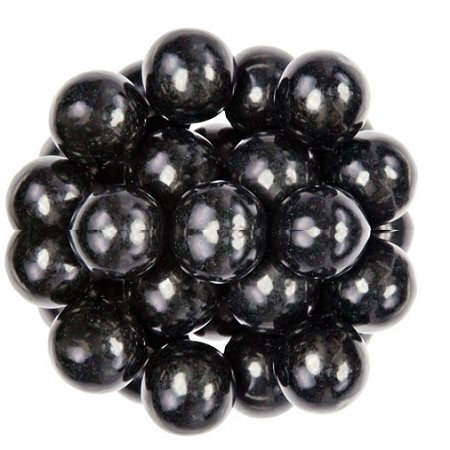 Oak Leaf Black One Inch Gumballs, (Pack of 850) - Black Gum Balls