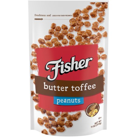 (10 Pack) Fisher Snack Butter Toffee Peanuts, 11 oz