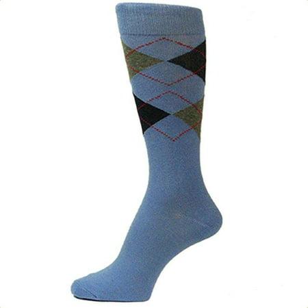 Spotlight Hosiery shades of BLUE Men's Groomsmen's Dress Socks (Royal, Turquoise, Light, Aqua, Sky, etc..) - Pink And Orange Striped Socks