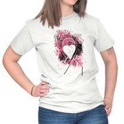 Brisco Brands Pretty Breast Cancer Awareness Lady Short Sleeve T Shirt