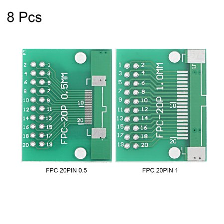 FPC 20PIN 0.5 / FPC 20PIN 1 to DIP Adapter PCB Board SMD Converter 8pcs - image 2 of 3