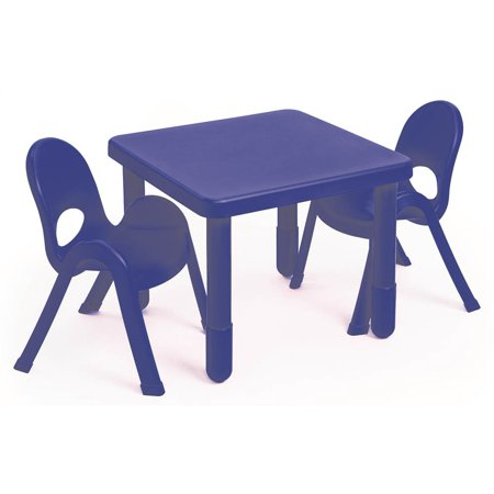 3-Pc MyValue Square Preschool Table and Chair Set in Royal Blue