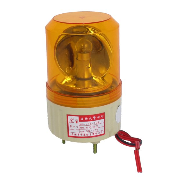 110V Industrial Alarm System Rotating Warning Light Lamp