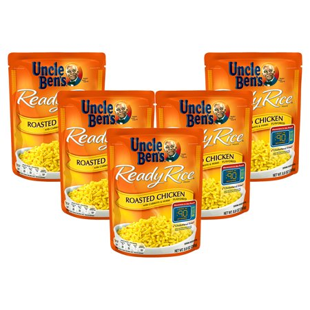 Fried Rice Dishes ((5 Pack) UNCLE BEN'S Ready Rice: Roasted Chicken, 8.8oz )
