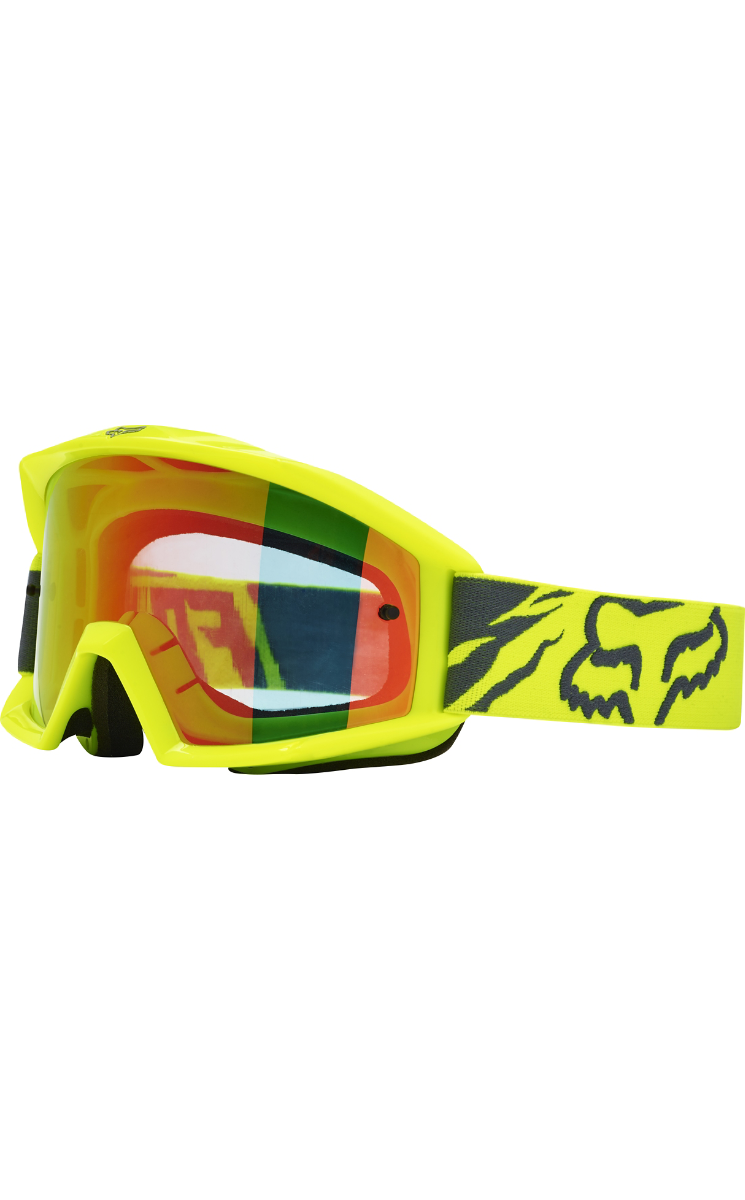 Fox Main Race Goggles Yellow   Mirror Red Lens 18433-005-NS No Size by Fox