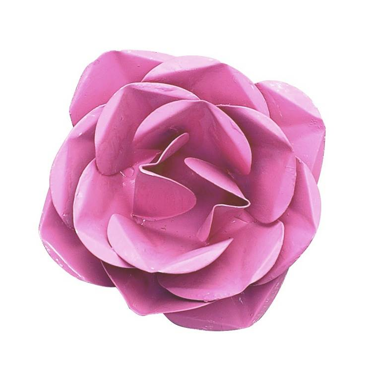 Large Metal Rose Magnet Bright Pink Set of 3 by Mackenzie Lee Design, LLC