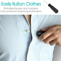 Siaonvr Button Hook Zipper Pull Helper Dressing Aid Assist Device Tool For Arthriti