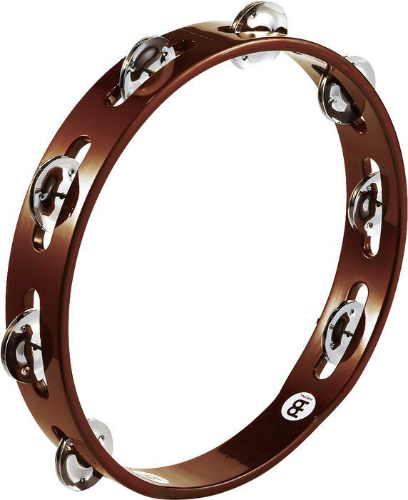 Meinl Wood Tambourine Single Row Aluminum Jingles by Meinl