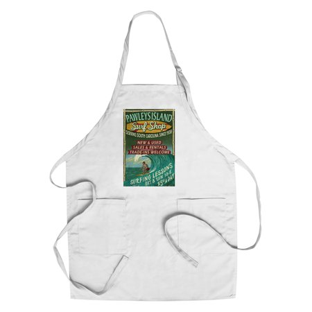 Pawleys Island, South Carolina - Surf Shop Vintage Sign - Lantern Press Artwork (Cotton/Polyester Chef