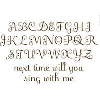 WallPops Espresso Script Alphabet Set Decals