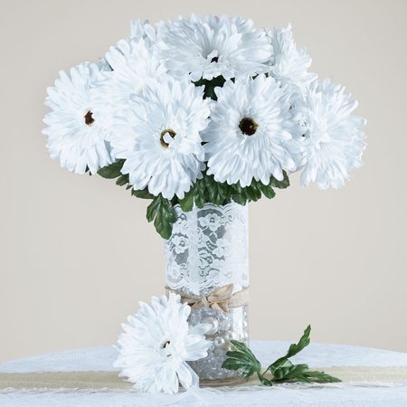 BalsaCircle 28 Silk Gerbera Daisy Wedding Flowers - DIY Home Wedding Party Artificial Bouquets Arrangements Centerpieces