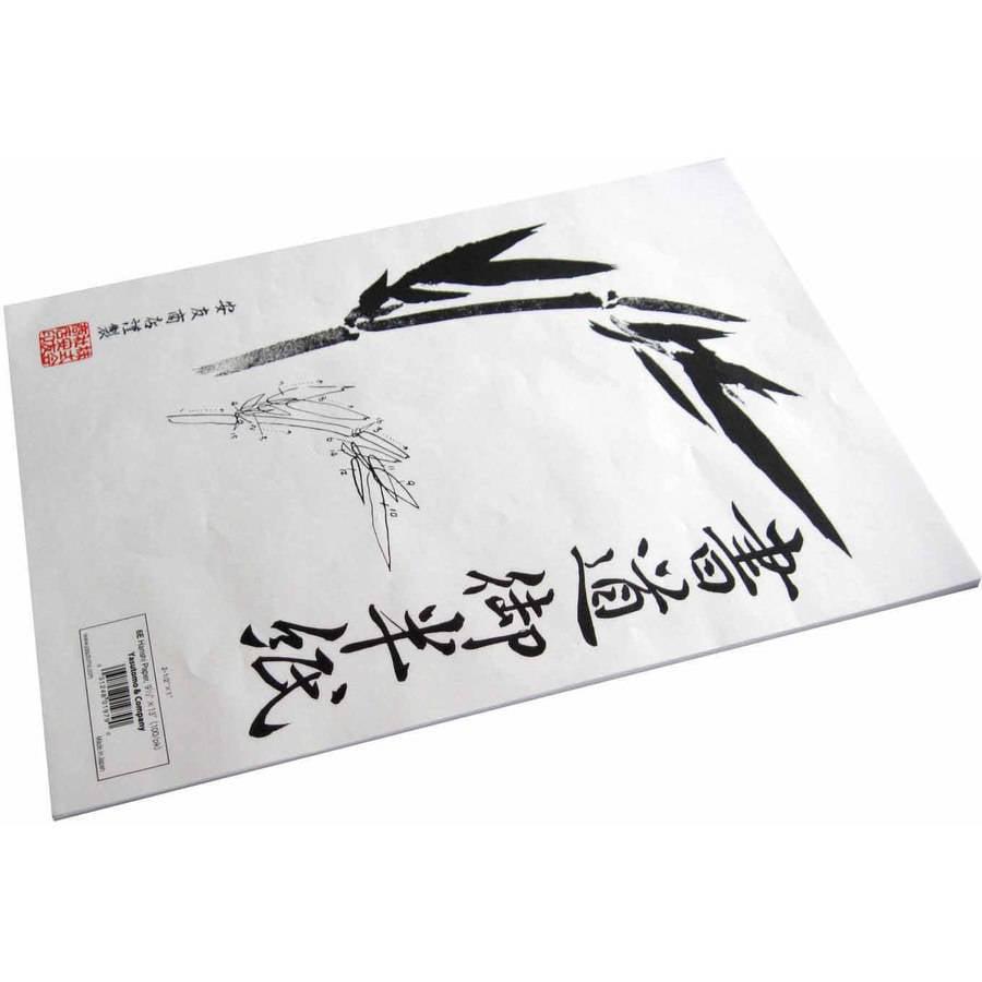"""Yasutomo Hanshi Rice Paper, 9.5"""" x 13"""", White, Various Pack Sizes"""