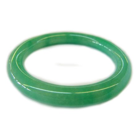 Round Inside Slip on Green Jade Bangles