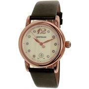 Montblanc Women's Star 102352 Brown Satin Swiss Quartz Fashion Watch