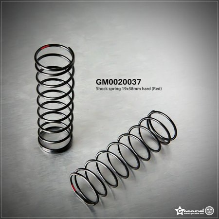 Hobby Rc Gmade Gma0020037 Shock Spring 19X58Mm Hard Red (2) Upgrade Parts ()