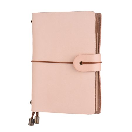 Leather Soft Cover Refillable Journal Notebook with Elastic Strap Diary Travel Business Notepad Lined Blank Grid Paper for Men & Women Sketching Writing