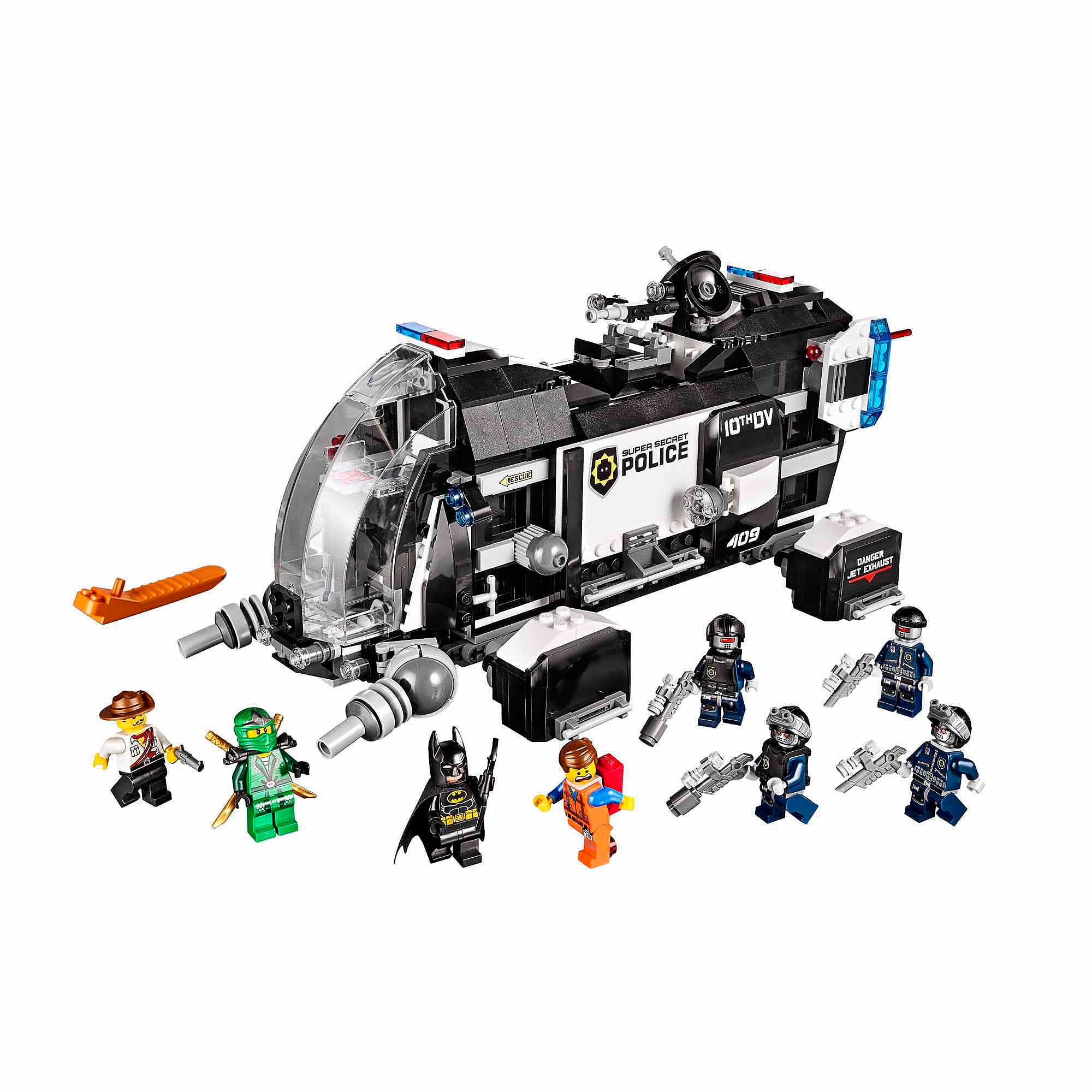 THE Lego MOVIE Super Secret Police Dropship w  8 Minifigures | 70815 by Lego
