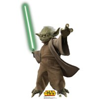 Advanced Graphics 528 Yoda With Lightsaber Life-Size Cardboard Stand-Up