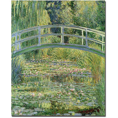 "Trademark Art ""The Water-Lily Pond Pink Harmony, 1899"" Canvas Art by Claude Monet"