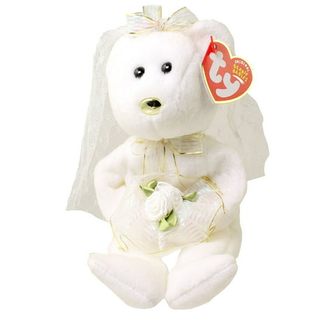 Ty Beanie Baby   Hers The Bride Bear  Internet Exclusive   8 5 Inch