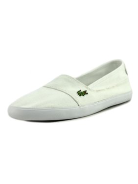 7a650f28b154c Product Image Lacoste Marcie Men Round Toe Canvas White Flats