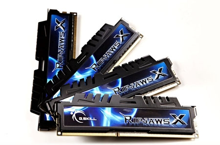 32GB G.Skill DDR3 PC3-17000 2133MHz RipjawsX Series for Intel Z68/P67 (9-11-11) Quad Channel kit 4x8GB