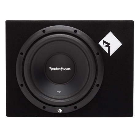 Rockford Fosgate 400W Prime Single 10 Inch Loaded Subwoofer Enclosure R1-1X10