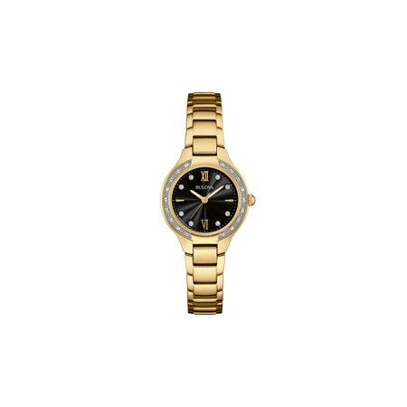Bulova Factory Refurbished Women's Maiden Lane Diamond Stainless Steel Watch