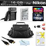 16GB Accessory Kit For Nikon COOLPIX P530 P520 P510 P500 ...