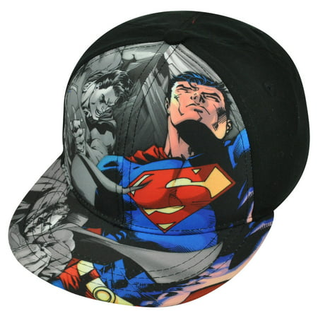 DC Comics Superman Man of Steel Hero Urban Sublimation Kids Snapback Hat Cap