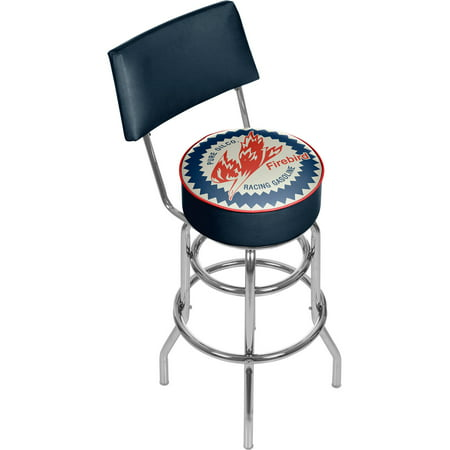 Pure Oil Swivel Bar Stool with Back, Firebird ()