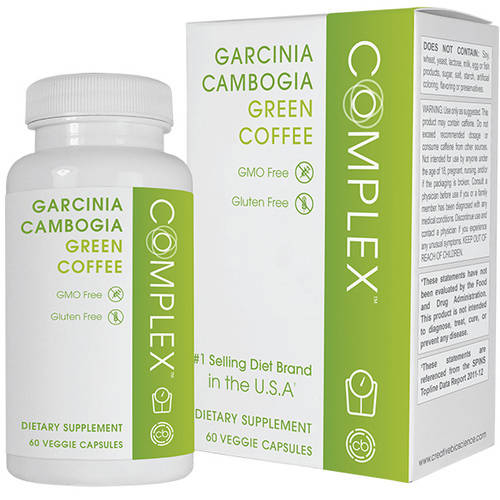 Creative Bioscience Garcinia Cambogia Complex Green Coffee Bean Capsules Dietary Supplement, 60 count