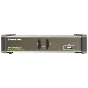 2PORT USB 2XVGA USB KVM SWITCH DUAL VIEW AUDIO PERP SHARING TAA