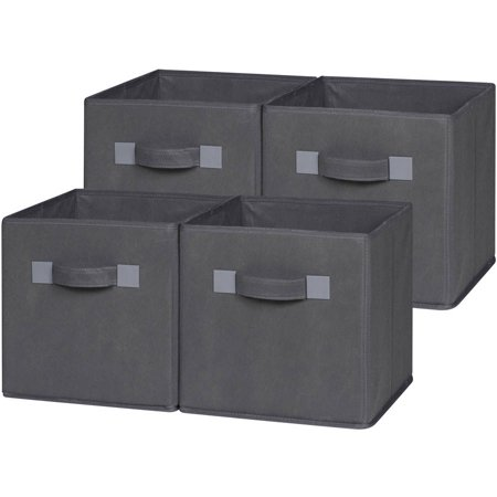 Comfort Products Storage Cube Basket Bin, 4pk, Multiple Colors
