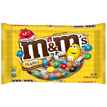 M&M's Milk Chocolate Candy with Coated Peanuts, 19.2 - Individual M&m Colors