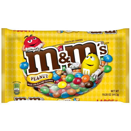 M&m Individual Colors (M&M's Milk Chocolate Candy with Coated Peanuts, 19.2)