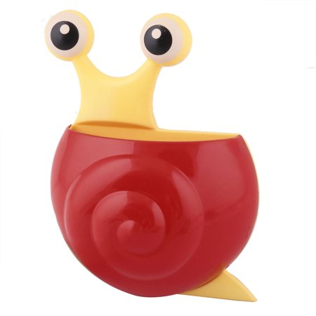 Bathroom Plastic Snail Shaped Suction Cup Toothbrush Toothpaste Holder Organizer - image 4 de 4