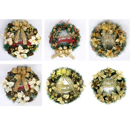 Christmas Party Leaf Fall Door Wreath Door Wall Ornament Thanksgiving Day decorations
