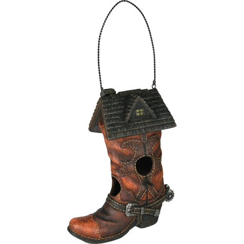 Rivers Edge Products Cowboy Boot Birdhouse by Rivers Edge Products